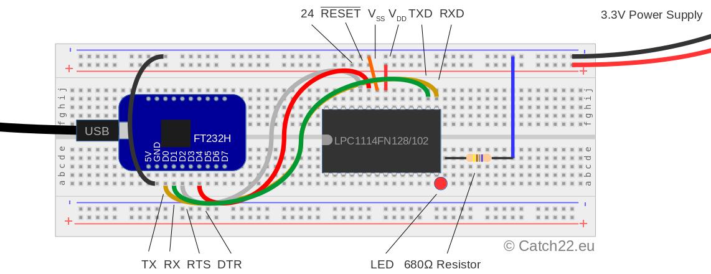 LPC1114 baremetal programming setup