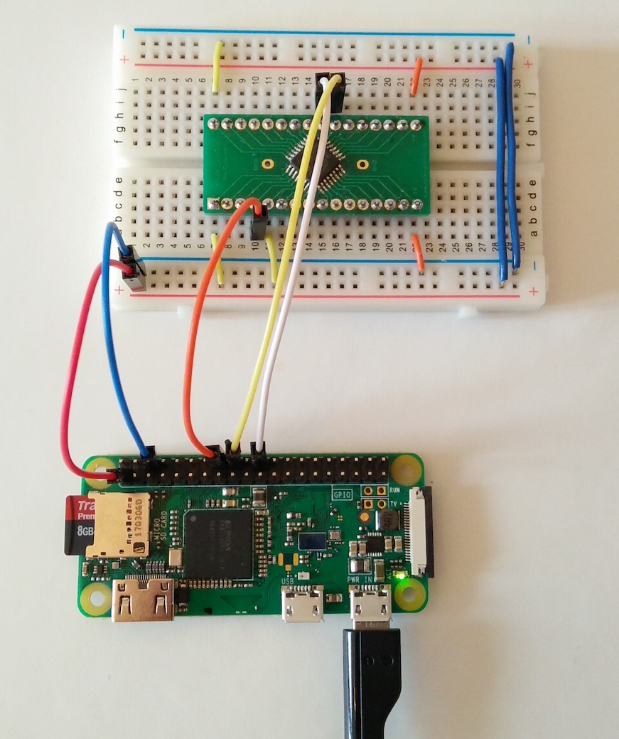 Wire diagram Raspberry Pi as SWD JTAG programmer for the STM32